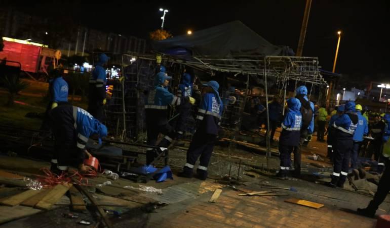 Más de 400 vendedores informales fueron desalojados en Suba