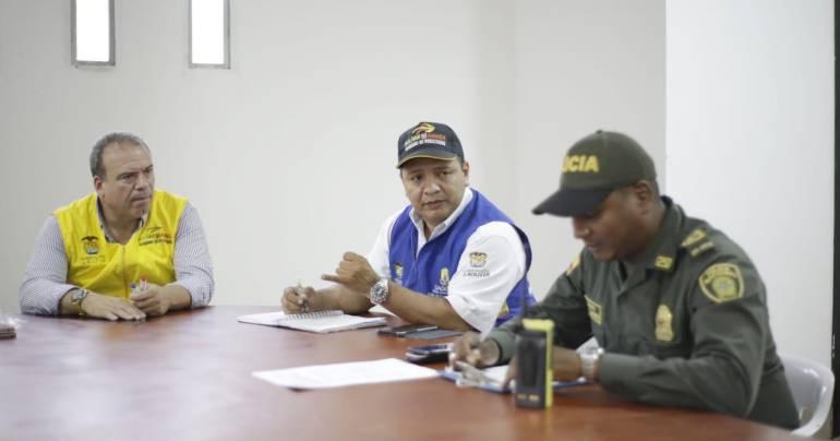 Instalan PMU en Achí, Bolívar, por creciente del río Cauca