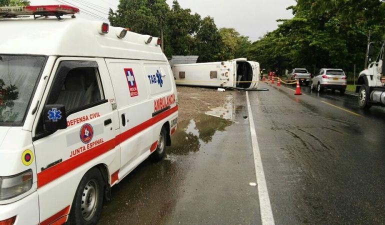Accidente de tránsito vía Ibagué – Espinal: Ocho personas heridas dejó accidente de tránsito vía Ibagué – Espinal