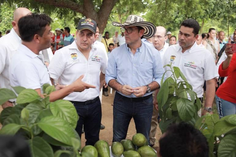 Gobernador de Bolívar y MinAgricultura impulsan proyectos productivos: Gobernador de Bolívar y MinAgricultura impulsan proyectos productivos