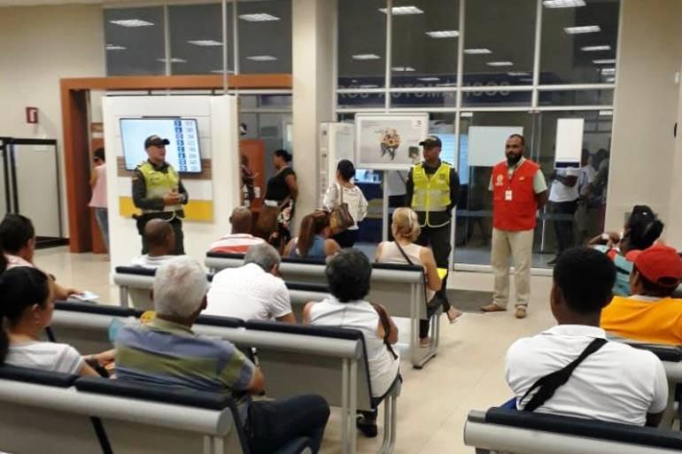 Hurtos usuarios del sistema financiero: Policía de Cartagena busca fortalecer seguridad a usuarios bancarios
