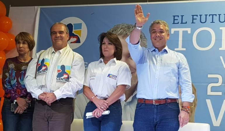 Iván Duque, candidato presidencial en Manizales
