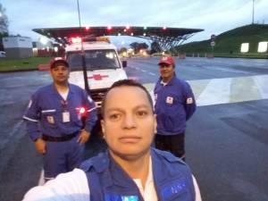 Tres socorristas de la Cruz Roja seccional viajaron a Antioquia