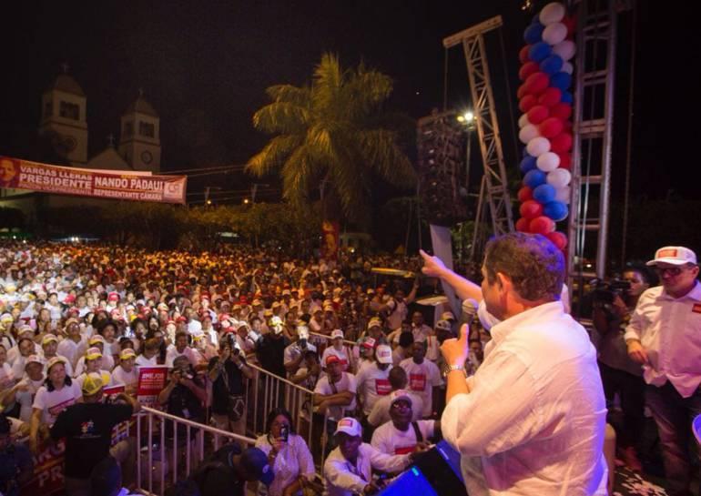 Vargas Lleras hizo cierre de campaña en Arjona, Bolívar: Vargas Lleras hizo cierre de campaña en Arjona, Bolívar