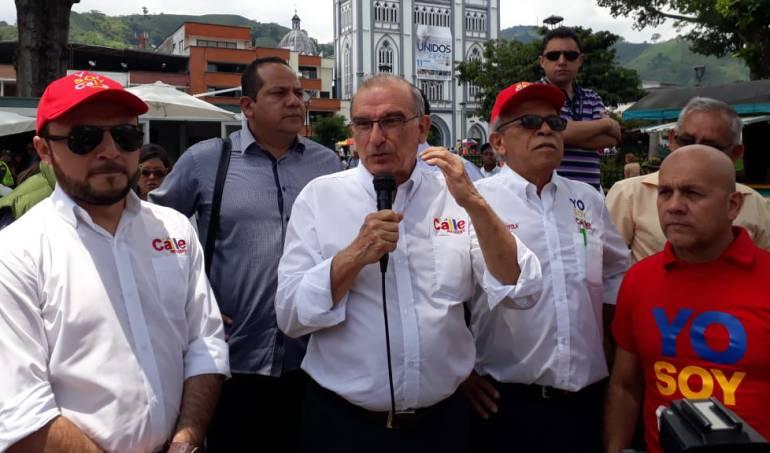 Humberto de la Calle, cierre de campaña, Elecciones en Venezuela, JEP: Humberto De La Calle cierra su campaña en Manizales en la calle