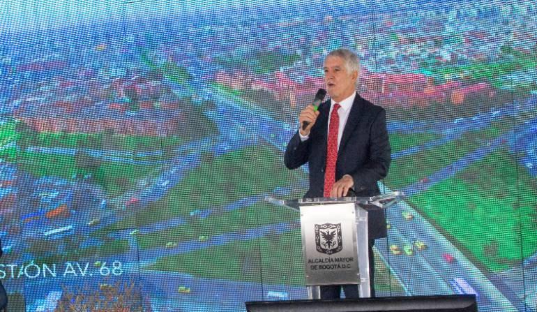 Foto de archivo del alcalde Bogotá, Enrique Peñalosa, en una de sus intervenciones sobre el metro de la ciudad.
