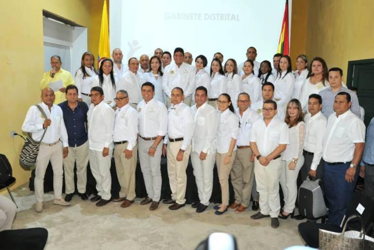 Alcalde de Cartagena toma posesión a su gabinete: Alcalde de Cartagena toma posesión a su gabinete