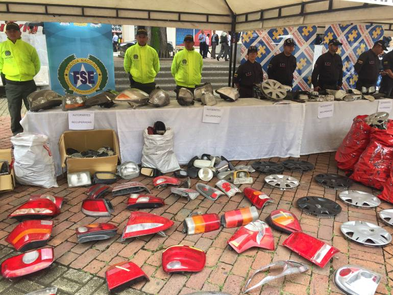 Recuperación de autopartes en Pereira: Autoridades recuperaron más de 2.000 autopartes hurtadas en Pereira