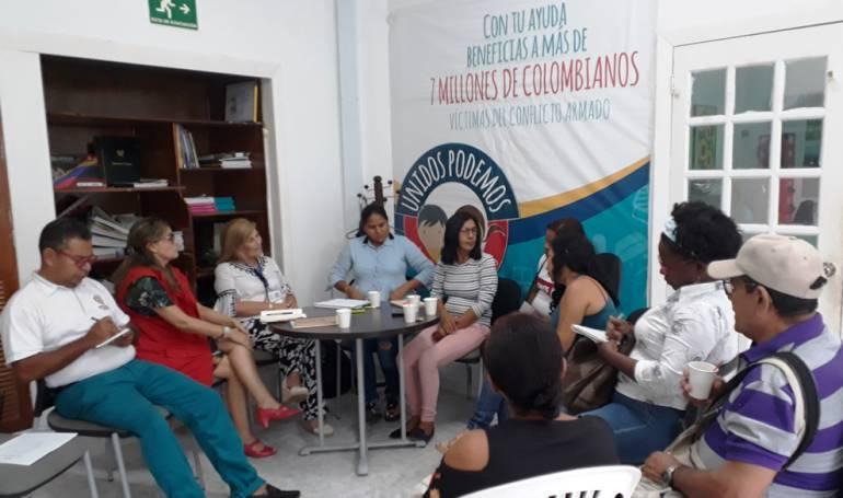 Victimas de confito en Cartagena Bolívar: Unidad a Víctimas se reúne en Cartagena con afectados