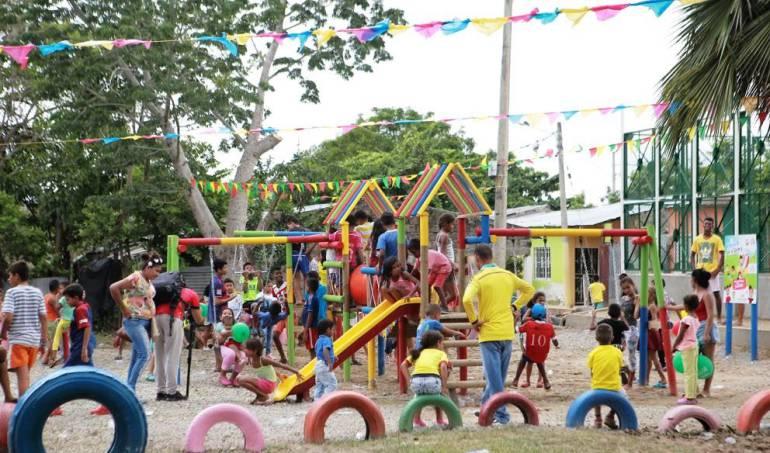 Magangué Bolívar: Gobernación de Bolívar hizo entrega de dos parques infantiles en Magangué
