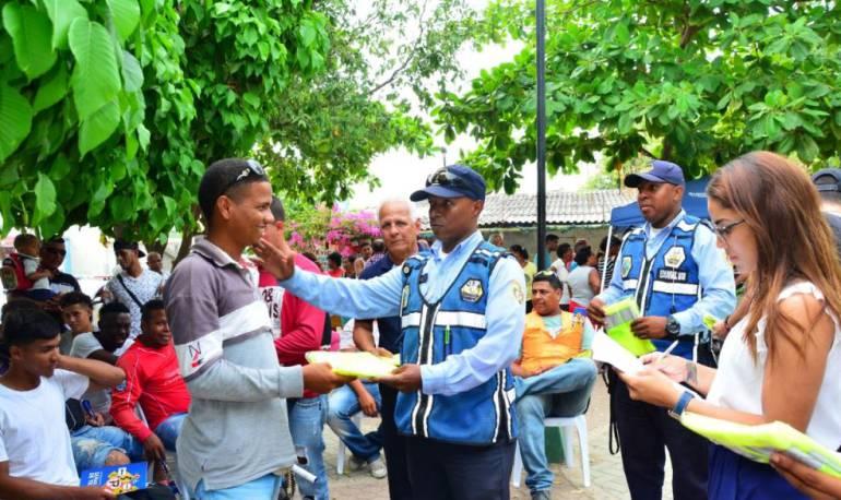 Transporte público Cartagena: DATT continúa capacitación de motociclistas en Cartagena