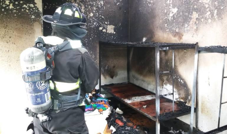Incendios: Incendio en centro de protección de menores en Pasto