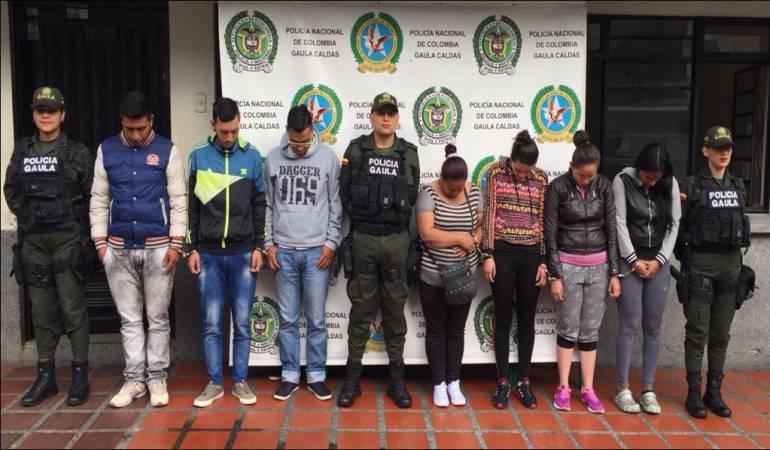 """Presuntos integrantes de """"Los Tíos"""""""