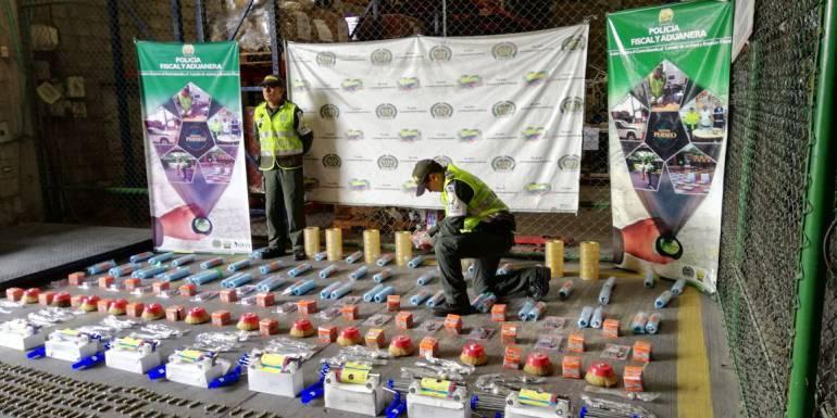 Incautaciones Dian y policía de aduanas Cartagena: Policía de Aduanas incauta cerca a Cartagena 2.400 materiales de ferreteria