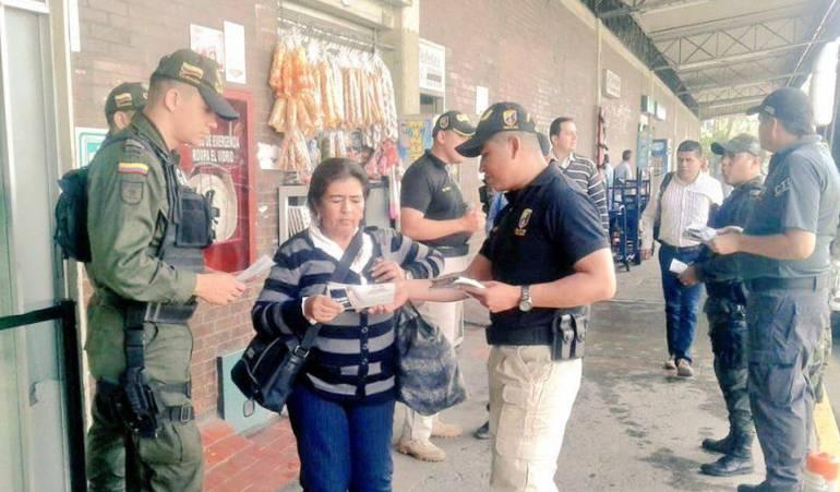 Ofensiva de las autoridades para combatir la extorsión en Tolima