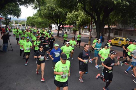Participantes de la media maratón