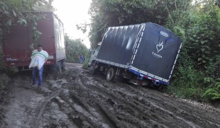Afectaciones en las vías de Cadlas por las lluvias