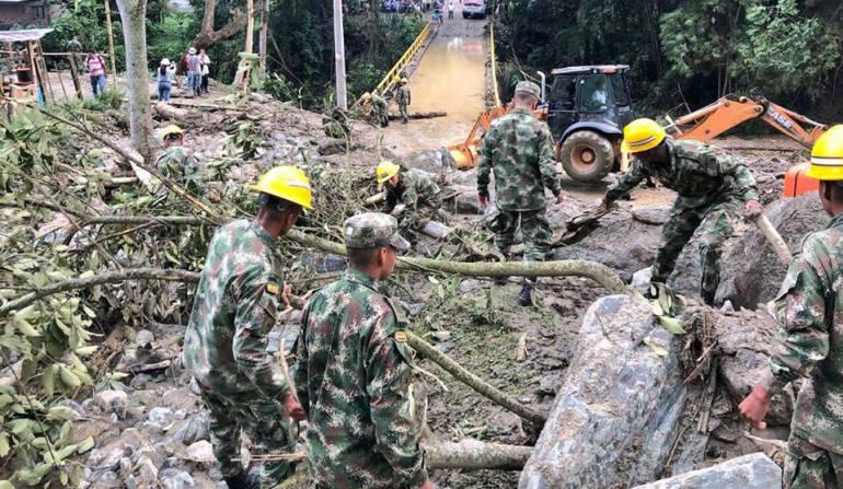 lluvias: Ejército ayuda atender emergencias por el invierno en Ibagué