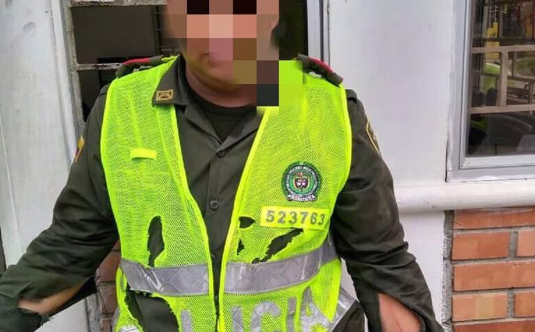 ataques con arma: Hieren a un patrullero de la Policía cuando aprehendía a un presunto ladrón