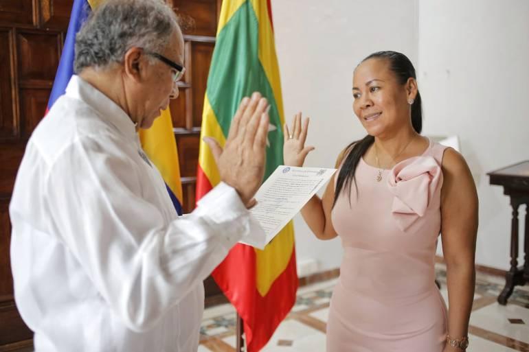 Tomó posesión como Alcaldesa encargada de Cartagena, Yolanda Wong Baldiris: Tomó posesión como Alcaldesa encargada de Cartagena, Yolanda Wong Baldiris