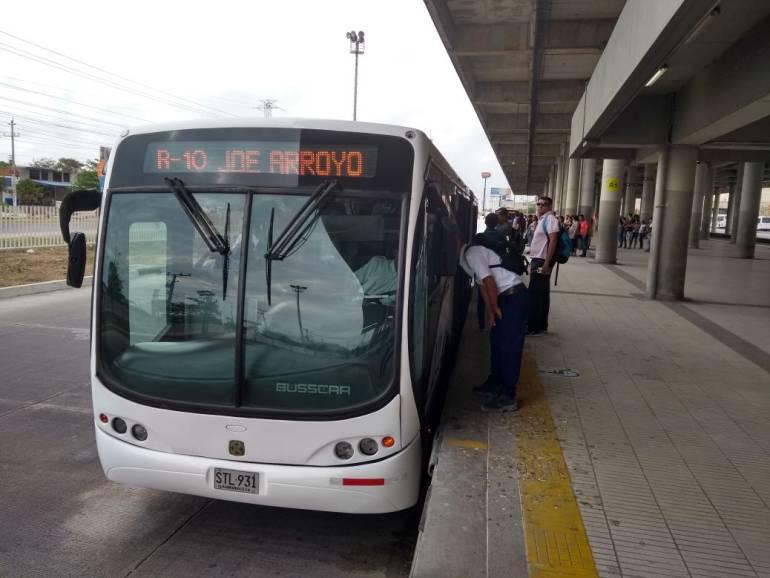 Estación Transmetro, Barranquilla.