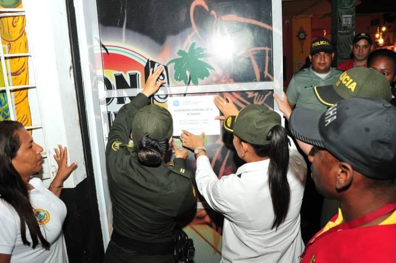 Control a establecimientos nocturnos en las tres localidades de Cartagena: Control a establecimientos nocturnos en las tres localidades de Cartagena