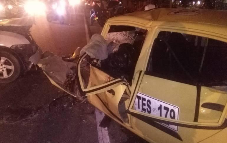 Aparatoso accidente de tránsito en Cartagena dejó 5 heridos graves