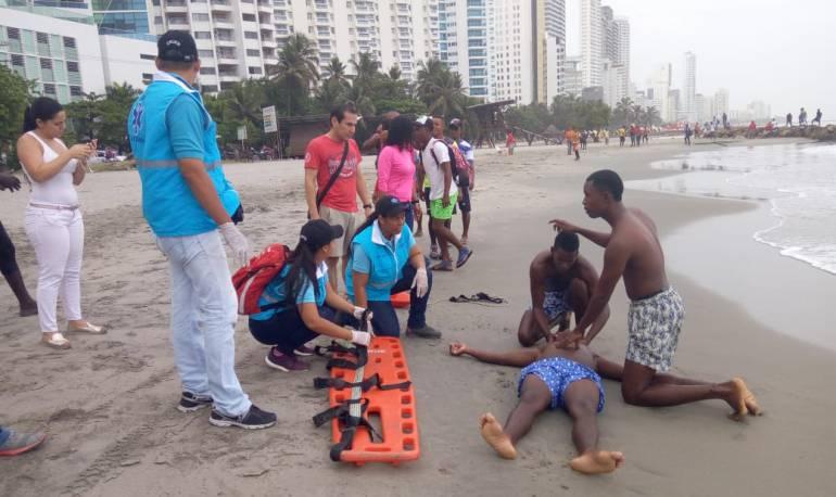 Capacitan a salvavidas de Cartagena en atención médica