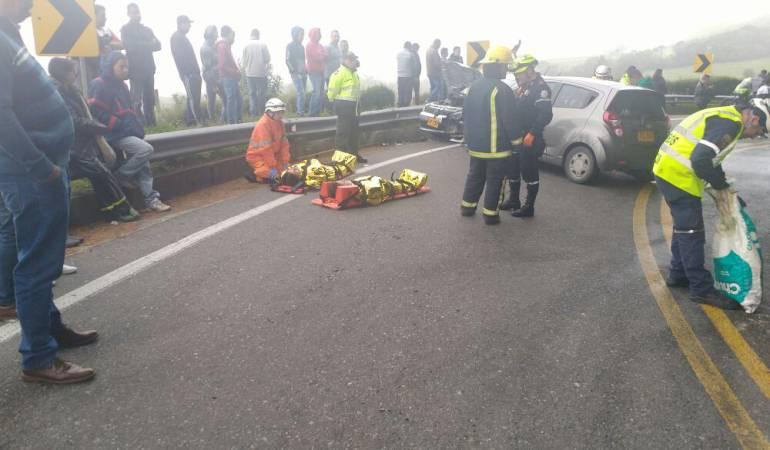 Accidente de tránsito en el sector de Las Margaritas
