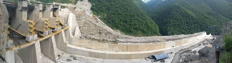 vertedero, epm, clima, verano, lluvias, cota: EPM terminó el vertedero de la presa en Hidroituango