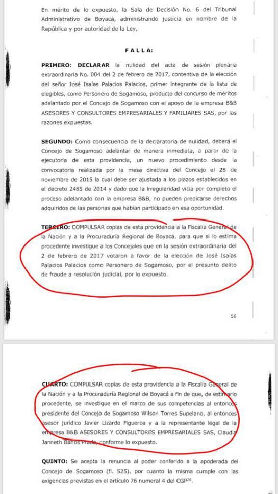 Consejo de Estado tumbó la elección del personero de Sogamoso, Boyacá: Consejo de Estado tumbó la elección del personero de Sogamoso