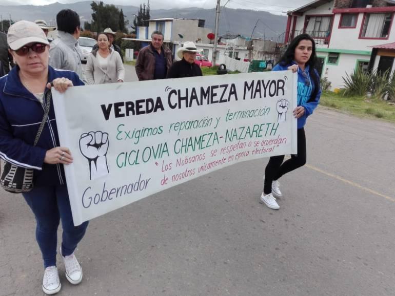 Ciclovía inconclusa a punto de convertirse en elefante blanco en Boyacá: Ciclovía inconclusa a punto de convertirse en elefante blanco en Boyacá