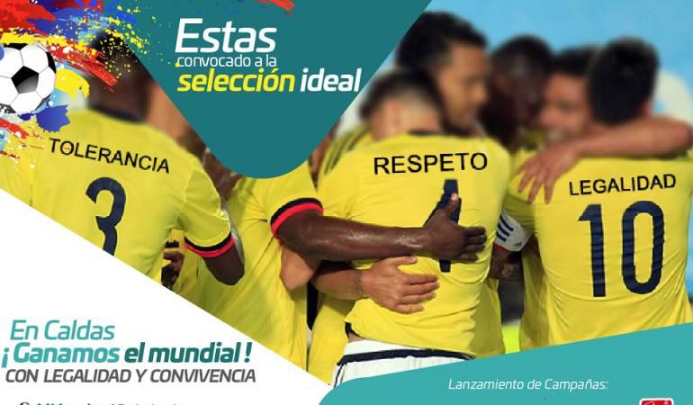 """En Caldas presentan la campaña """"La selección ideal"""""""