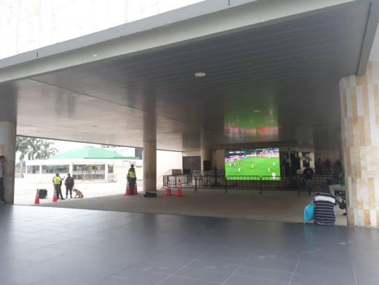 BUCARAMANGA DEPORTES MUNDIAL RUSIA FÚTBOL 2018: Instalan pantallas gigantes para que bumangueses vean el mundial