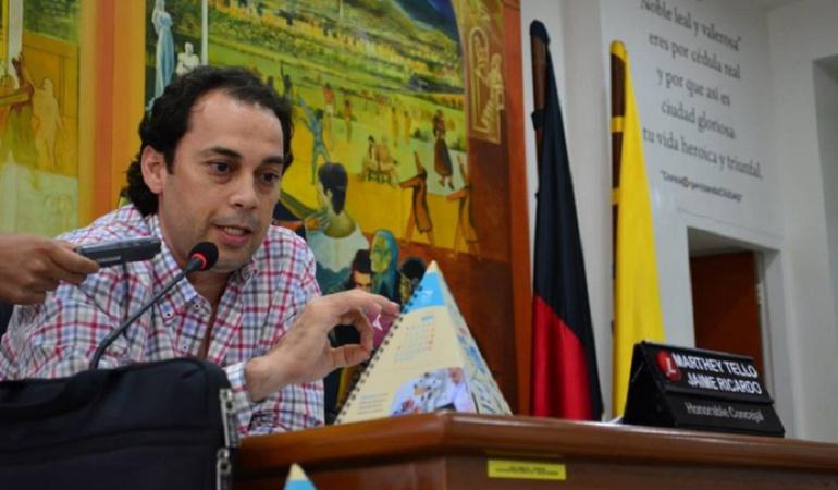 Jaime Ricardo Marthey Tello, presidente del concejo de Cúcuta