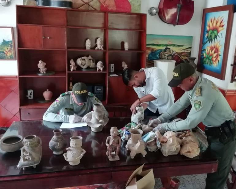 Incautan 19 piezas arqueológicas en un hotel de Puerto Colombia