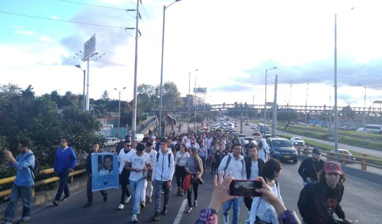 Estudiante de la Nacional asesiando: Estudiantes de la Nacional rechazaron la muerte de Camilo Ortiz