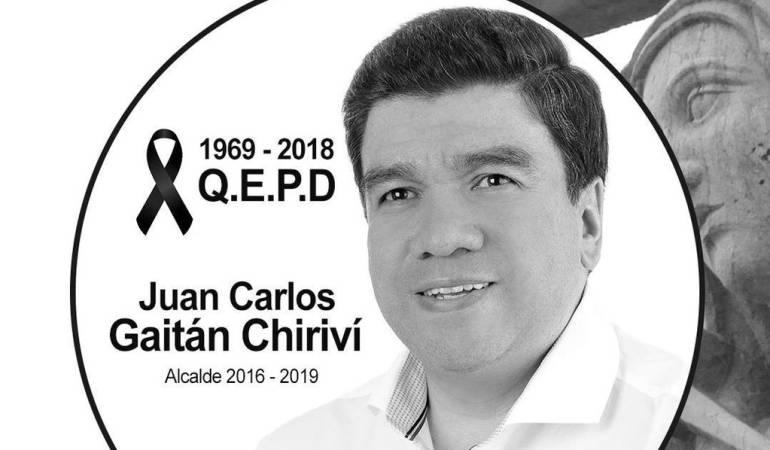 Alcalde Juan Carlos Gaitán Chiriví