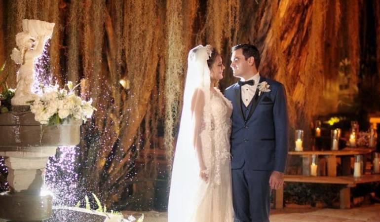 Fotografía de la boda del alcalde de Floridablanca.