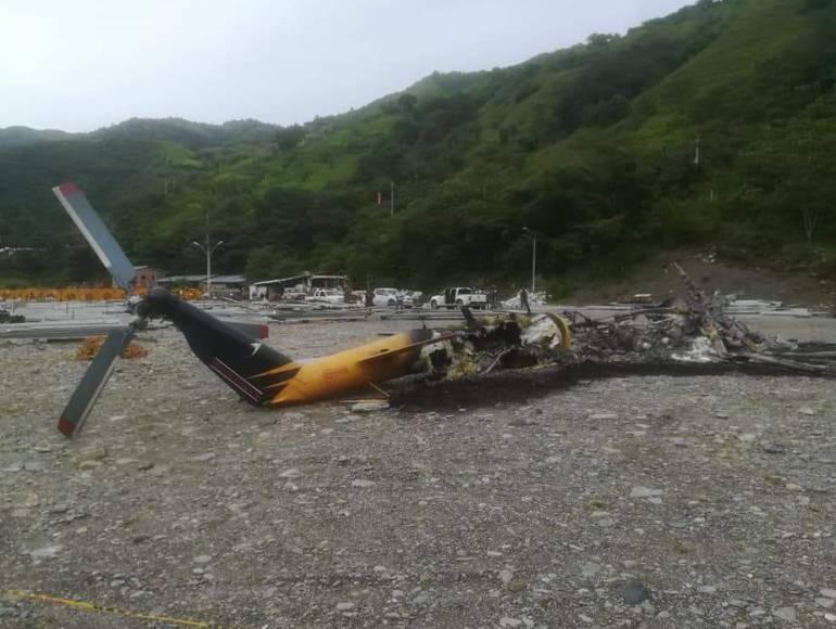Helicoptero, extorsiones, toledo, hidroituango, queman: Por no pagar extorsión habrían quemado helicóptero en Toledo, Antioquia