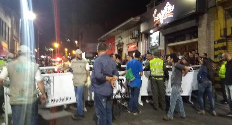 paruqe, periodista, licor, alucinógenos, licor, intervención: Autoridades se tomaron el parque del periodista en Medellín