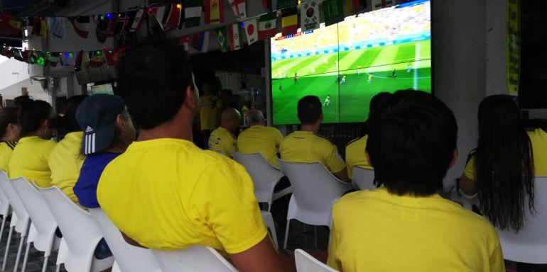 Los barranquilleros optimistas de un triunfo de Colombia: Los barranquilleros optimistas de un triunfo de Colombia
