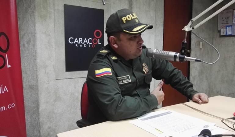 Coronel Hermes Javier Barrera Blanco comandante de la Policía Metropolitana de Cúcuta