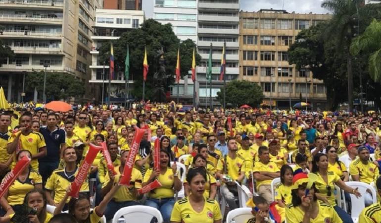 Felicidad desbordada en Pereira tras la victoria de la selección Colombia