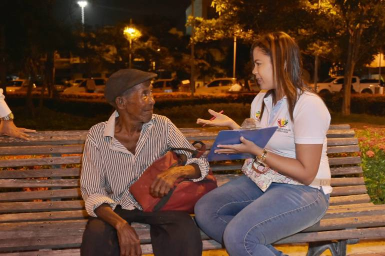 Inicia operativo para identificar habitantes de calle en Cartagena: Inicia operativo para identificar habitantes de calle en Cartagena