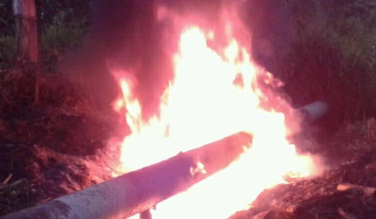 Incendio en Oleoducto: Delincuentes causaron incendio en el Oleoducto trasandino