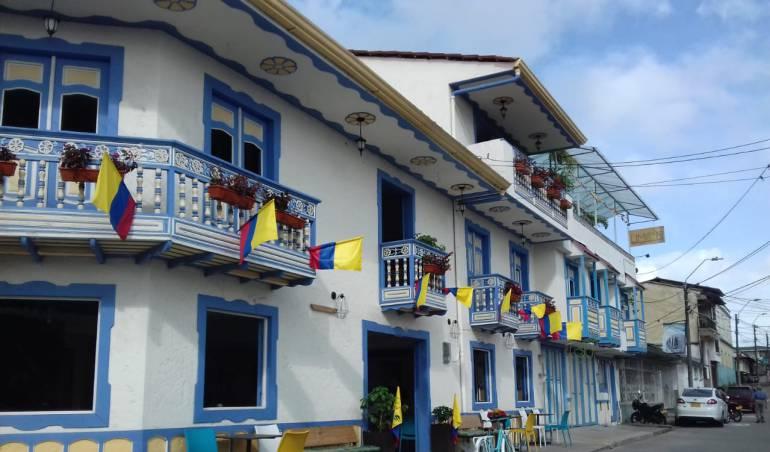 Los municipios del Quindío también están en modo mundial, balcones de Circasia