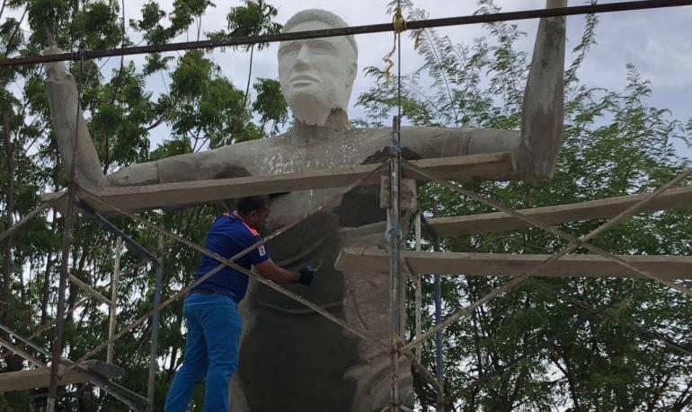 Falcao García: En diez días estará listo el monumento a Falcao en Santa Marta