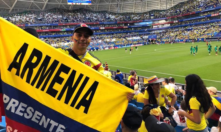 Ante Senegal muchos quindianos asistieron al estadio en Rusia