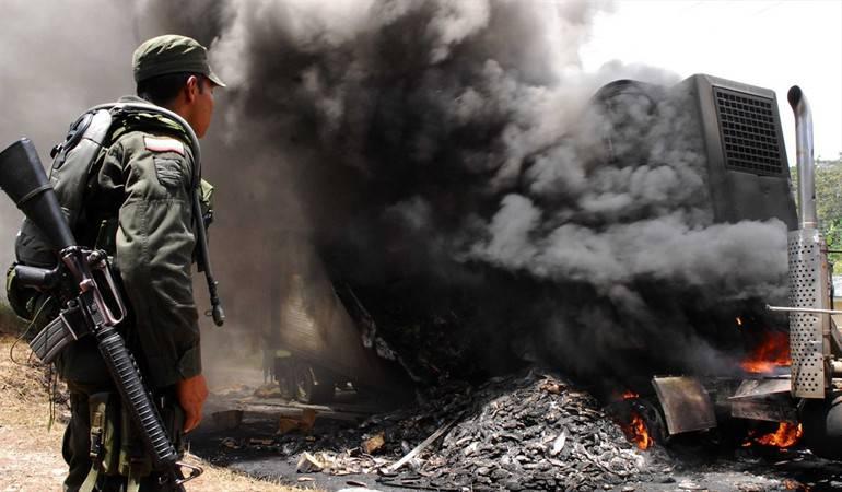 Incineran un camión en la vía Boyacá - Casanare